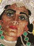 Queen Esther depicted in a mosaic portrait by artist Lilian Broca